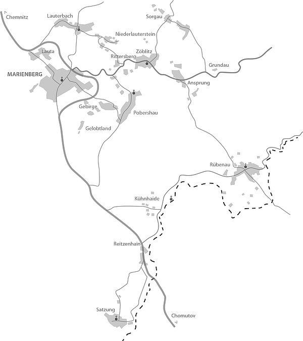 Karte Chemnitz Und Umgebung.Stadtplan